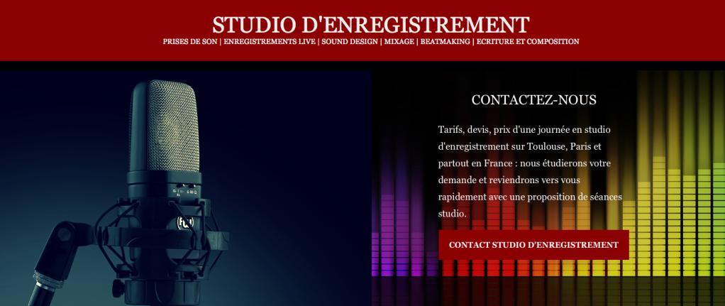 Contacter le bon studio d'enregistrement à Toulouse, etc...