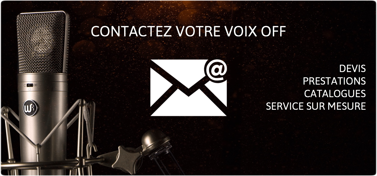 Contacter une voix off sur Paris ou Toulouse - catalogue de voix off, devis, prestations, prix attractifs, sound design, etc.