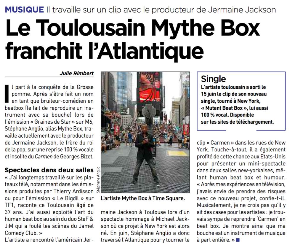 Contacter Mythe Box : le beatboxer de Toulouse qui s'est installé à new York pour une série de One-man show
