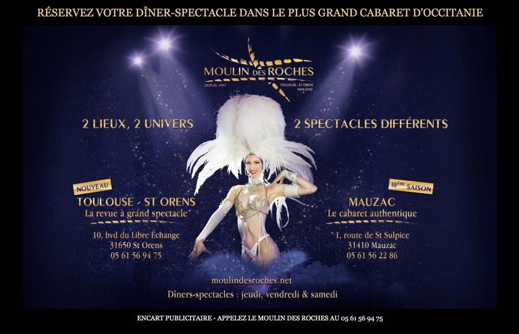 Cabaret à Toulouse : restaurant à thème, privatisation de la salle de spectacles, réservation pour un dîner-spectacle, salles pour une réception de mariage, location de salles, séminaires, évènement, etc.