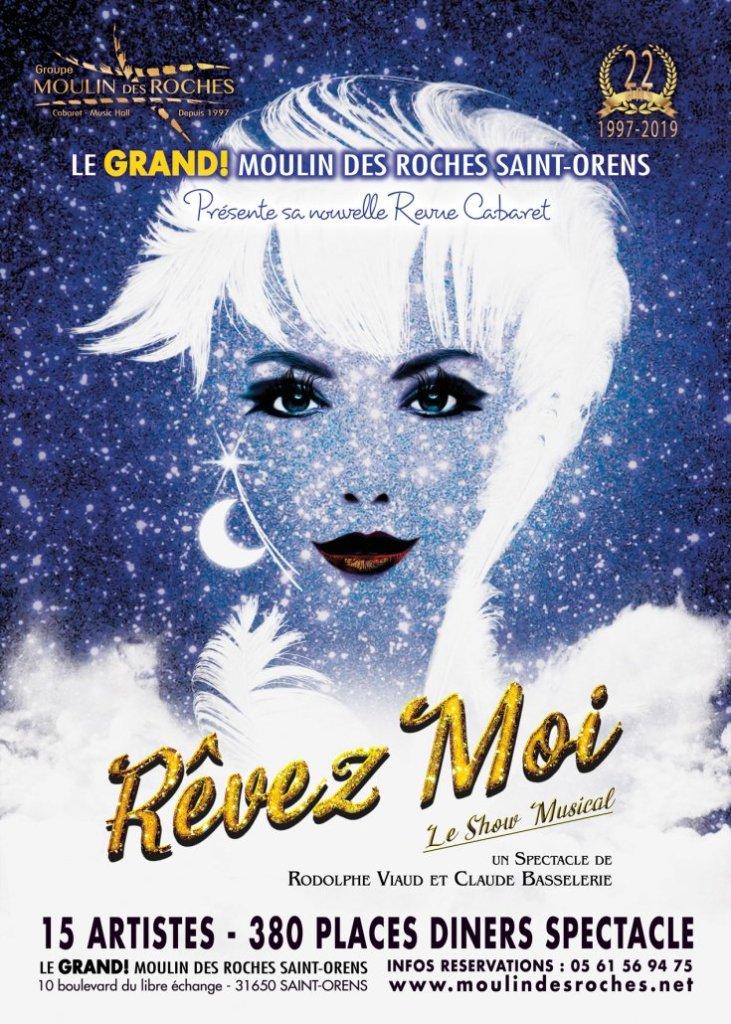 Contacter le cabaret Le Grand Moulin des Roches à Toulouse : cabarets et dîner-spectacles (contact, réservations, prix)