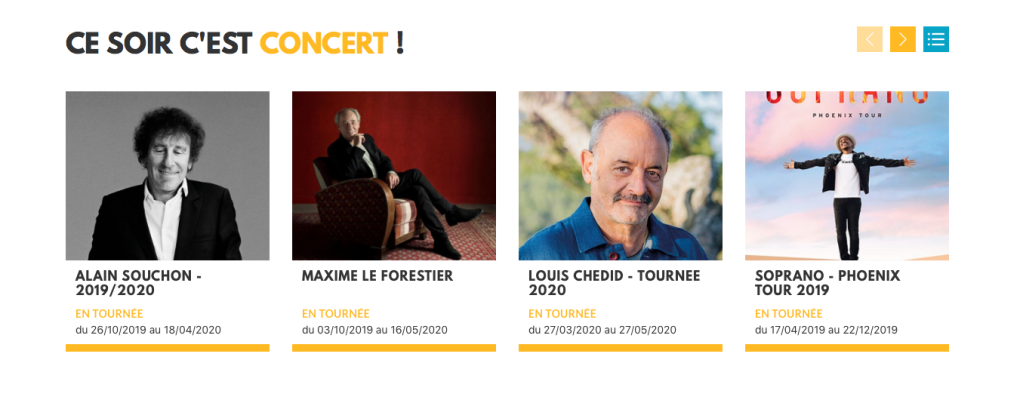 Contacter BOX OFFICE  : billetterie concerts, spectacles