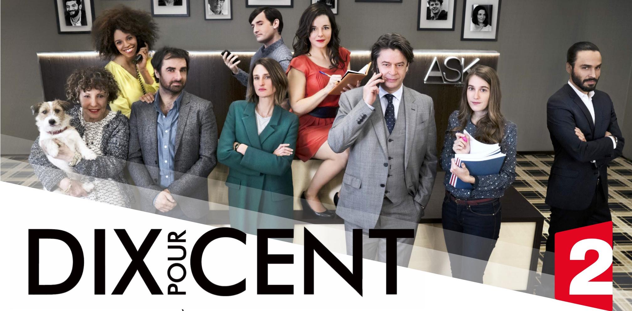 Pour cette dernière saison de la série à succès Dix pour Cent mettant en scène les agents de stars du cinéma, Mathias, Gabriel, et Andréa, au sein de l'agence fictive A.S.K., de nouvelles stars viendront compléter ce casting particulier de comédiens et comédiennes jouant leur propre rôle.