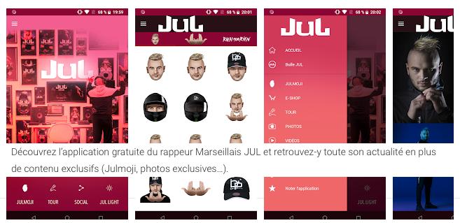 L'application Jul est disponible sur Apple et Android.  - JUL a son application mobile : concept, assistance et contact